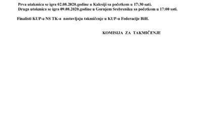 Parovi 1/2 finala KUP-a TK
