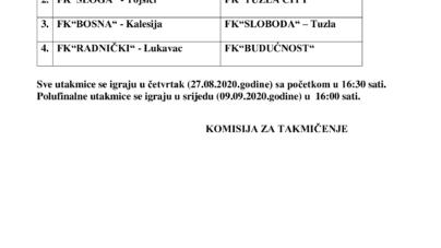 Parovi 1/4 Finale juniorskog KUP-a TK